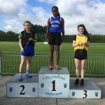 Amy Leonard Girls U17 100m 2nd Place