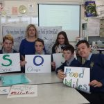 The JCA Horticulture class, Ms. Hassett (teacher) and Sinead Corcoran (One Good Idea mentor)