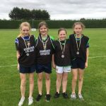 U14 girls relay. Meabh Nolan, Patricia Kelly, Amy Connaughton and Gráinne Kennedy came 3rd place