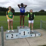 U15 girls 200m Labhaoise Glynn 3rd place