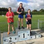 U15 girls 800m Ellen Larkin 1st place