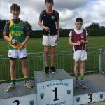 U15 long jump Cathal Mahon 1st place