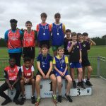U15 Boys relay. Cathal Mahon, Donnacha O'Meara, Jack Slevin, Tony Hislop and Rory Duffy came 3rd place