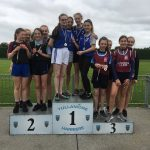 U15 Girls Relay. Maeve Lyons, Brionna O'Connor, Caoimhe Darcy and Ellen Larkin came 2nd Place