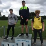 U16 discus Kian McMannus 2nd place