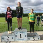 U20 High Jump Amy Byrne 1st place