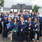 Ms Corley's 2C Class went out on a Banagher Heritage Trail /Mindfulness Walk