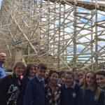 First year students and teachers enjoying Tayto Park