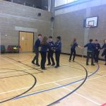 Ms McNerney's class enjoying some céilí dancing mar chuid de Sheachtain na Gaeilge.